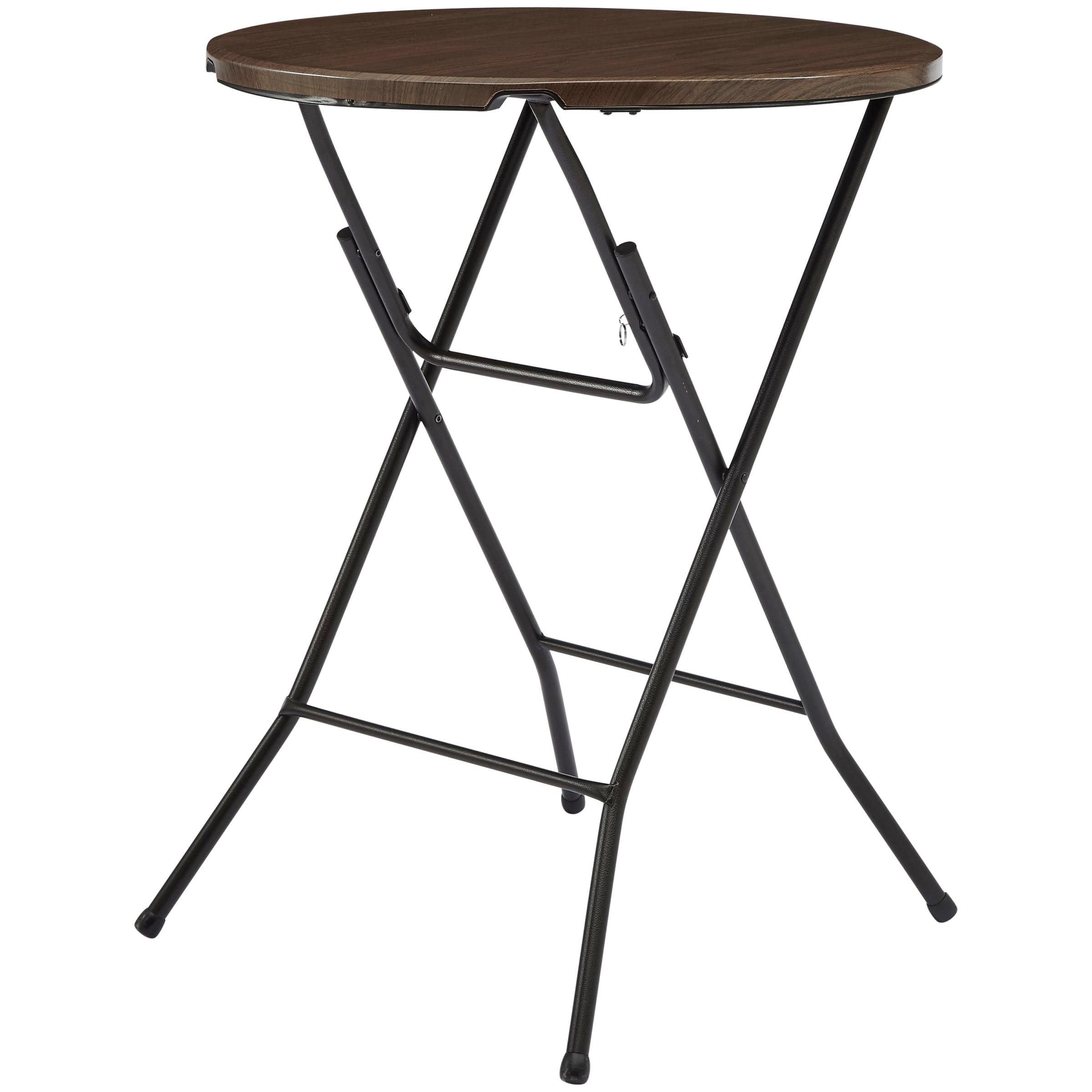 "Mainstays 31"" Round High Top Folding Table , Walnut by New Tec Integration Xiamen Co., Ltd."