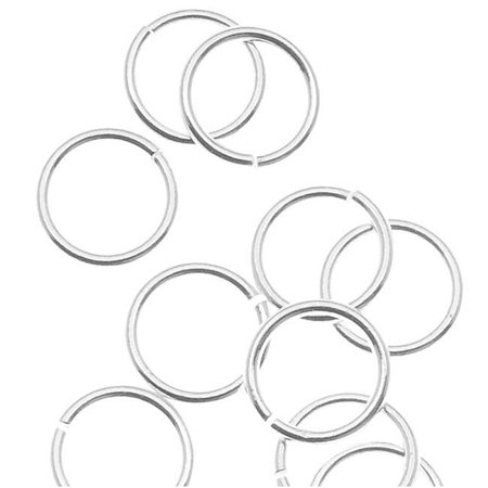 Silver Filled Open Jump Rings 6mm 22 Gauge