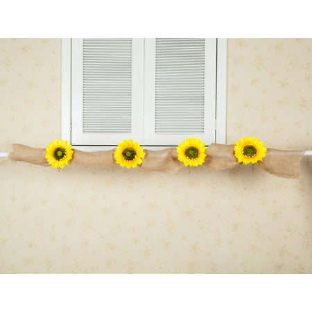 Sunflower Wedding Decor Burlap Garland Bridal Shower Decor