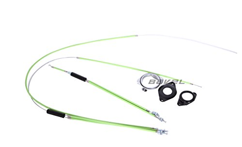 Upper + Lower Rear Spinner Rotor Set Kit BMX Bike Gyro Brake Cables Front