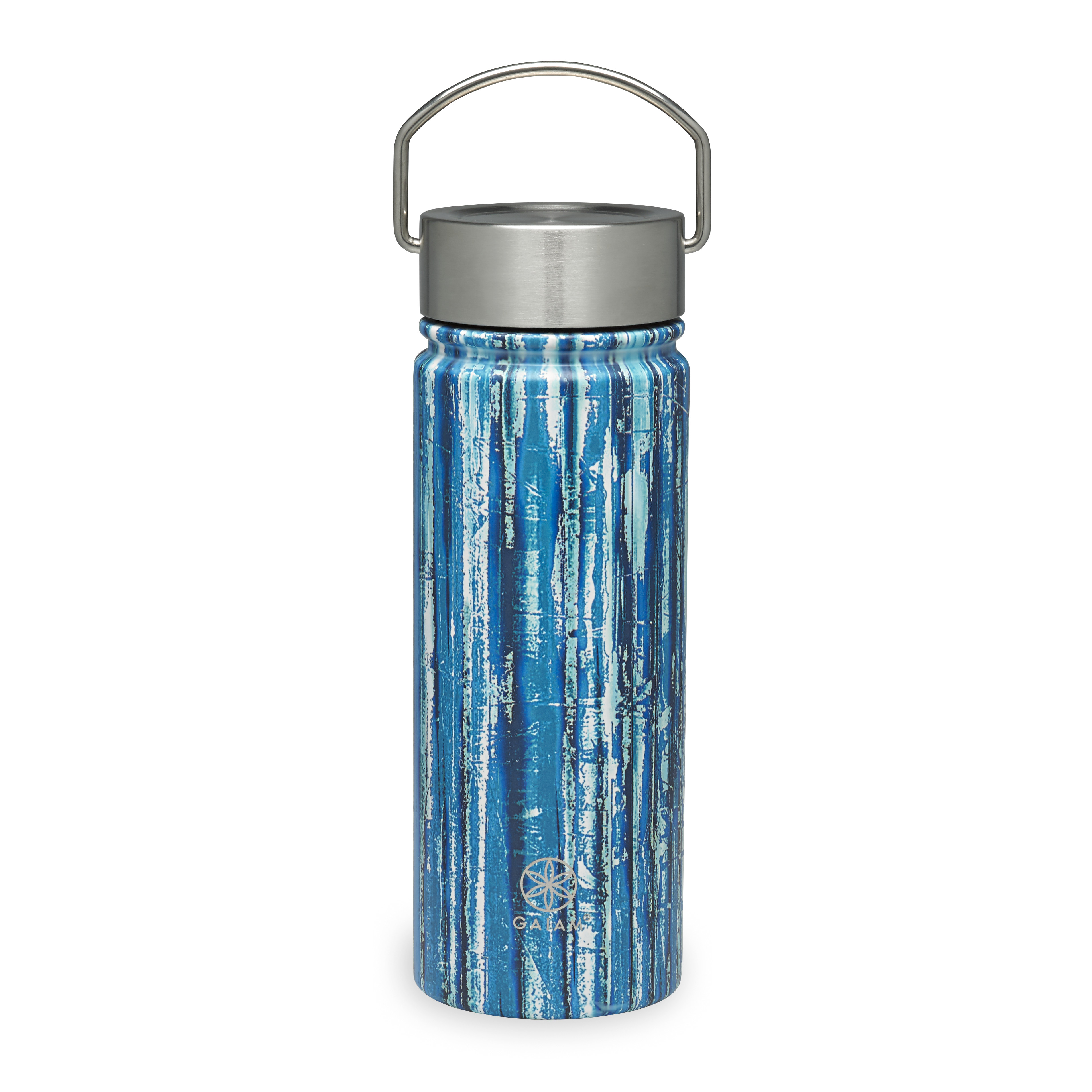 Gaiam Stainless Steel Wide Mouth Water Bottle 18oz Bluegrass