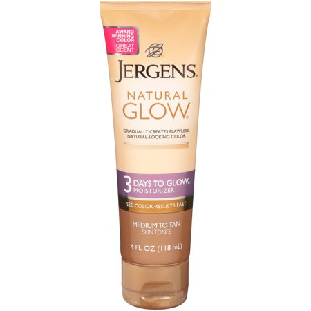 Jergens Natural Glow 3 Days to Glow Moisturizer, Medium to Tan Skin Tones, 4 Oz (Tan Lotions)