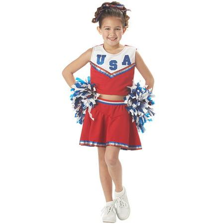 Patriotic Cheerleader Child Costume - Cheerleader Costumes