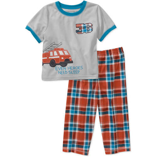 Child of Mine by Carters Baby Boys' 2-Piece Fire Truck Short Sleeve Pajama Set
