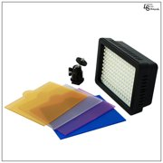 160 LED Digital Photo Video Compact Super Bright Light for Canon and Nikon Camera with Color Gels by Loadstone Studio WMLS0392
