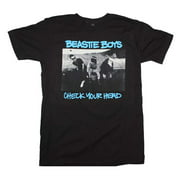 Rockline FEA-BY1177-S Beastie Boys Check Your Head Soft Adult Mens T-Shirt, Black - Small