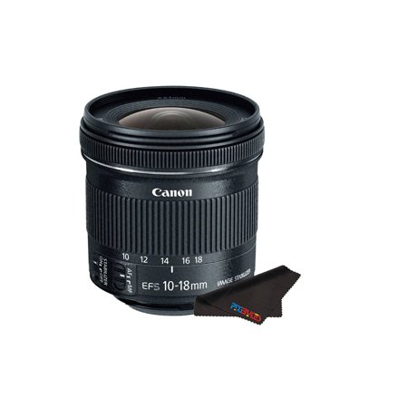 Canon EF-S 10-18mm f/4.5-5.6 IS STM Lens + FREE Pixi Microfiber Cleaning