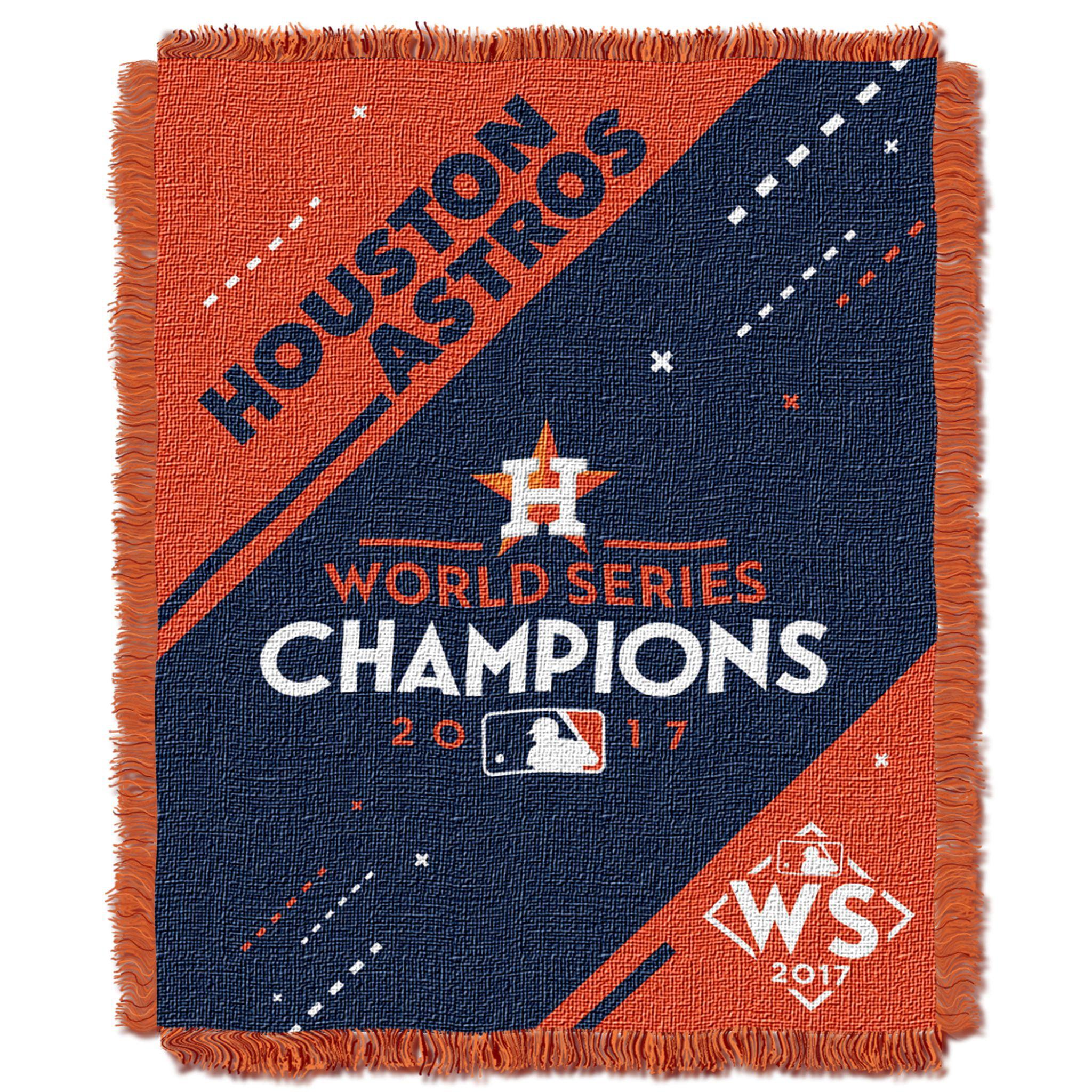 "OFFICIAL Major League Baseball, Houston Astros ""2017 World Series Champions"" 46""x 60"" Triple Woven Jacquard Throw"