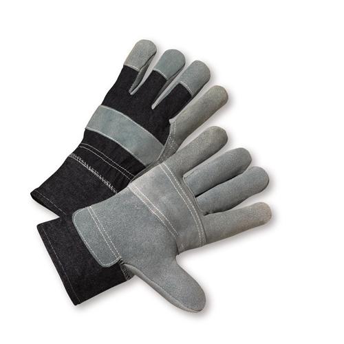 Large Economy Split Cowhide Patch Palm Gloves Dozen