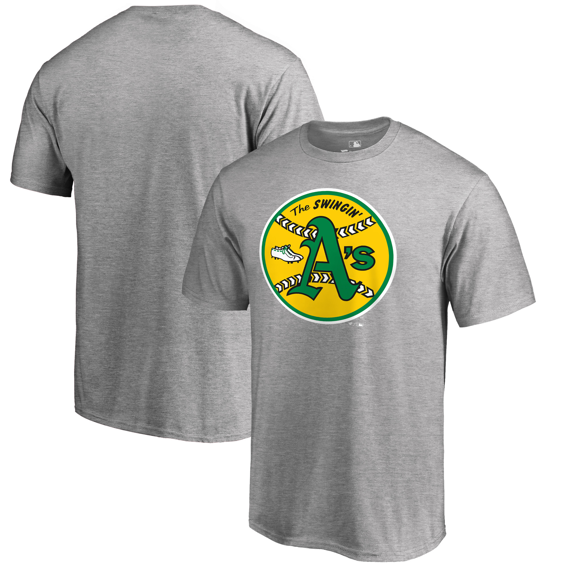 Oakland Athletics Fanatics Branded Cooperstown Collection Huntington T-Shirt - Heathered Gray