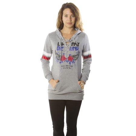 1952d6b776c7 Special One - Ladies sweatshirt lace up mini dress hooded jacket pullover  tops by special one - Walmart.com