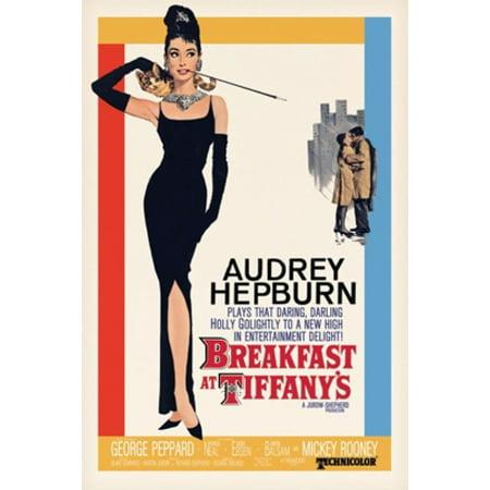 Audrey Hepburn  Breakfast at Tiffany's Movie Poster Poster Print (24 x 36) (Audrey Hepburn Breakfast)
