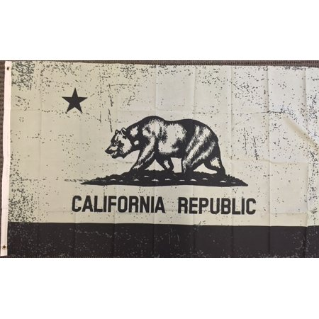 3x5 Grey and Black California Flag State Republic CA Outdoor Garden Banner New