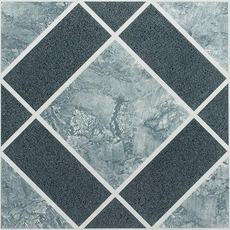 Vinyl Floor Tiles Self Adhesive Stick Flooring - Multi Pack Stone Designs Self Stick Vinyl Tile