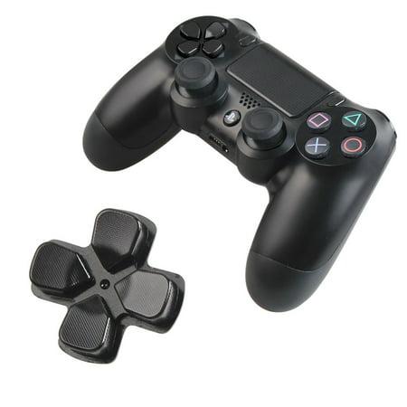 Replacement Aluminum Custom Metal Playstation 4 Chrome D-pad Bullet Buttons Buttons-Black - Custom Button