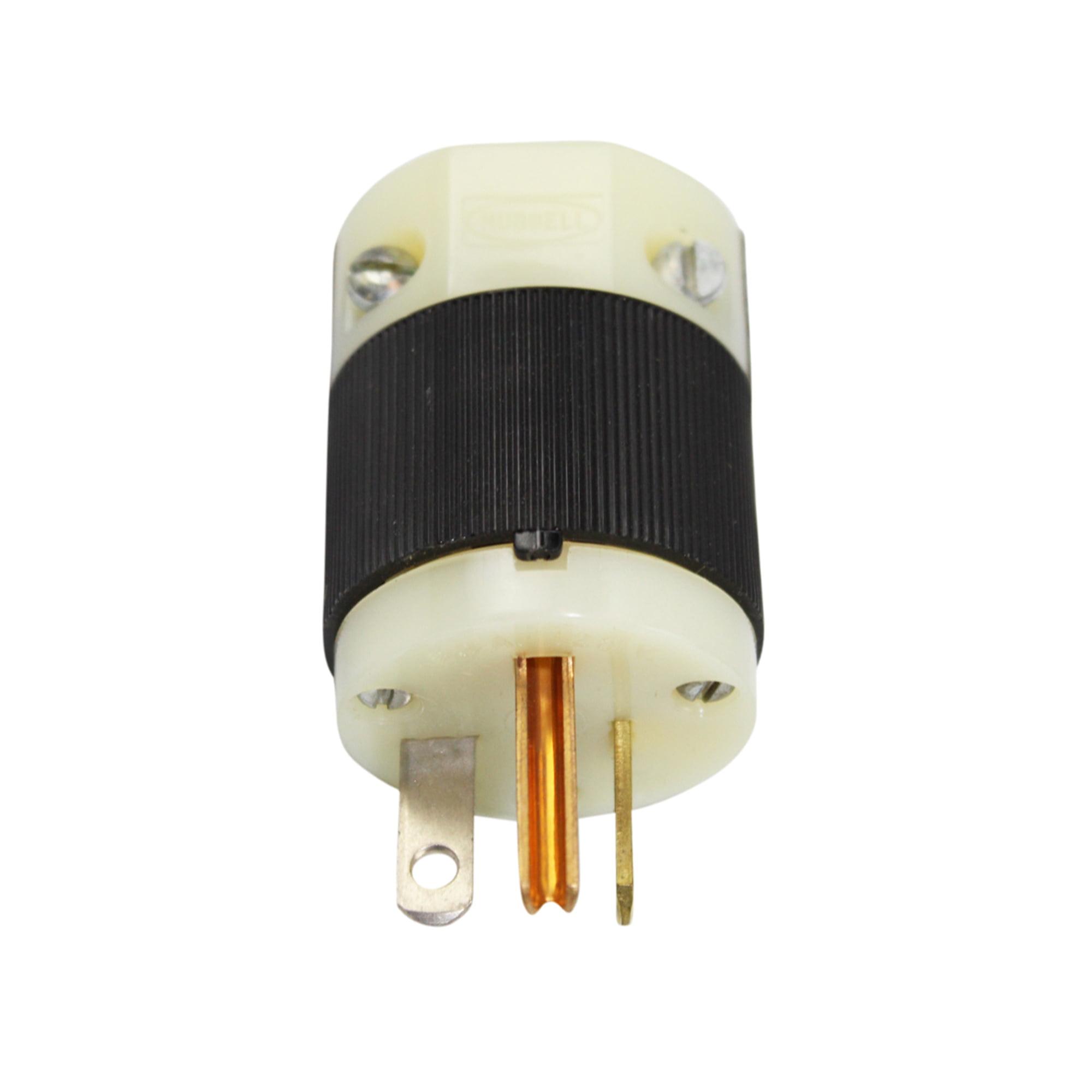 Hubbell HBL5366C Plug, 20 amp, 125V, 5-20P, Black/White(P...
