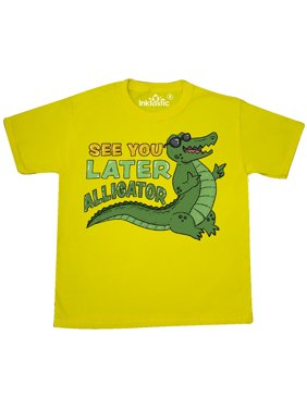 See You Later Alligator with Black Sunglasses Youth T-Shirt
