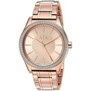 Armani Exchange  Women's  'Dress' Crystal Rose-Tone Stainless Steel Watch