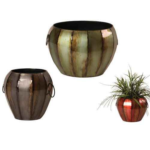 Wilco Home 3 Piece Round Pot Planter Set (Set of 3)