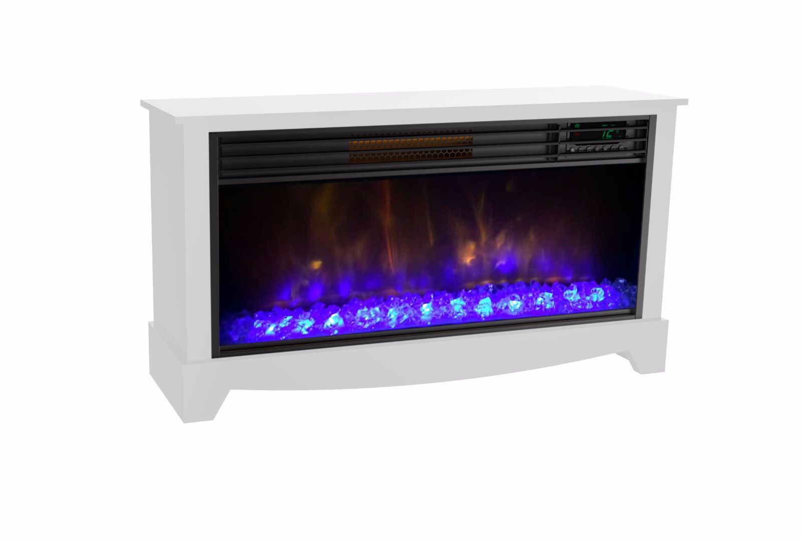 Lifesmart Lifezone Electric Infrared Media Fireplace Room Heater ...