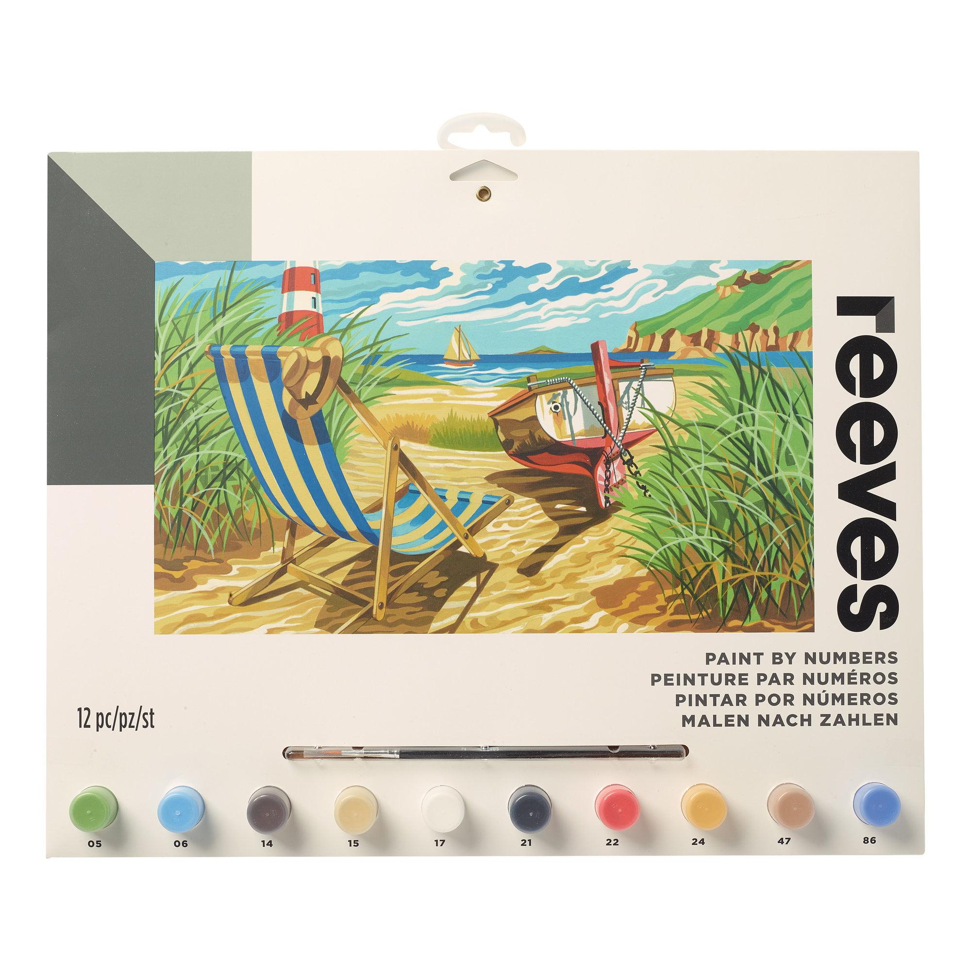 Reeves Large Paint by Numbers Set - Seashore