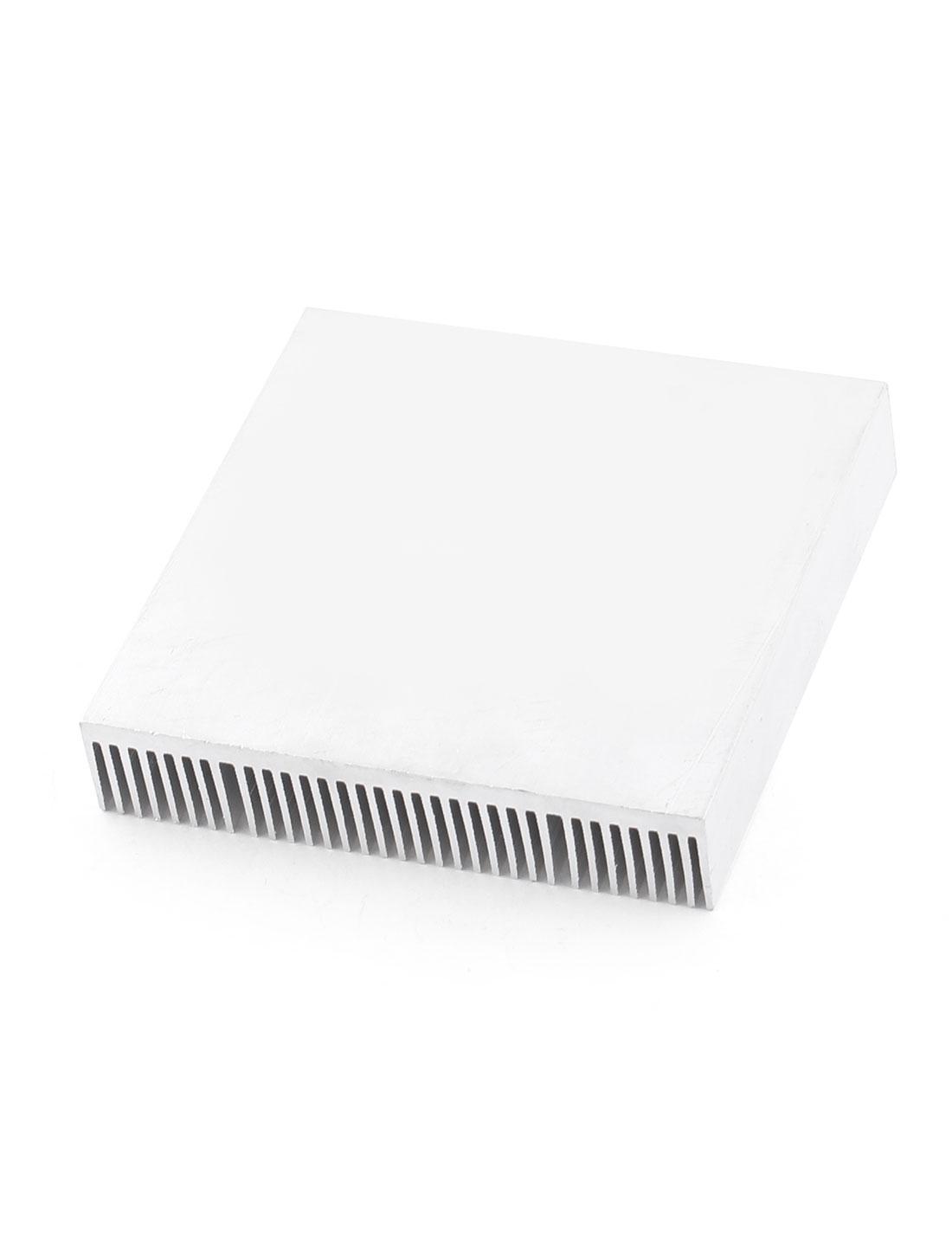 Silver Tone Aluminium Radiator LED Lamp Heatsink Heat Sink 100x102x20mm