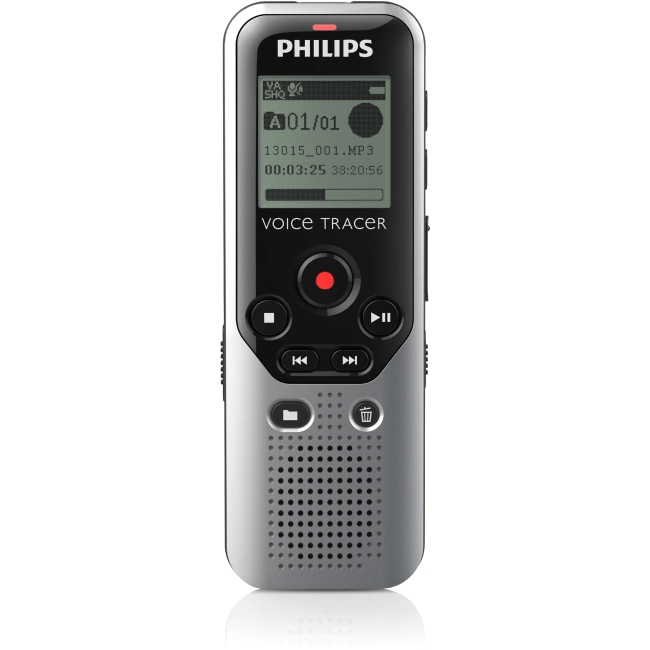 Philips Voice Tracer DVT1200 4GB Digital Voice Recorder for Notes Recording