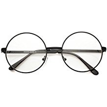 Metal Frame John Lennon Circle Lens Round Eyeglasses - (Best Eyeglasses Frame With Metals)
