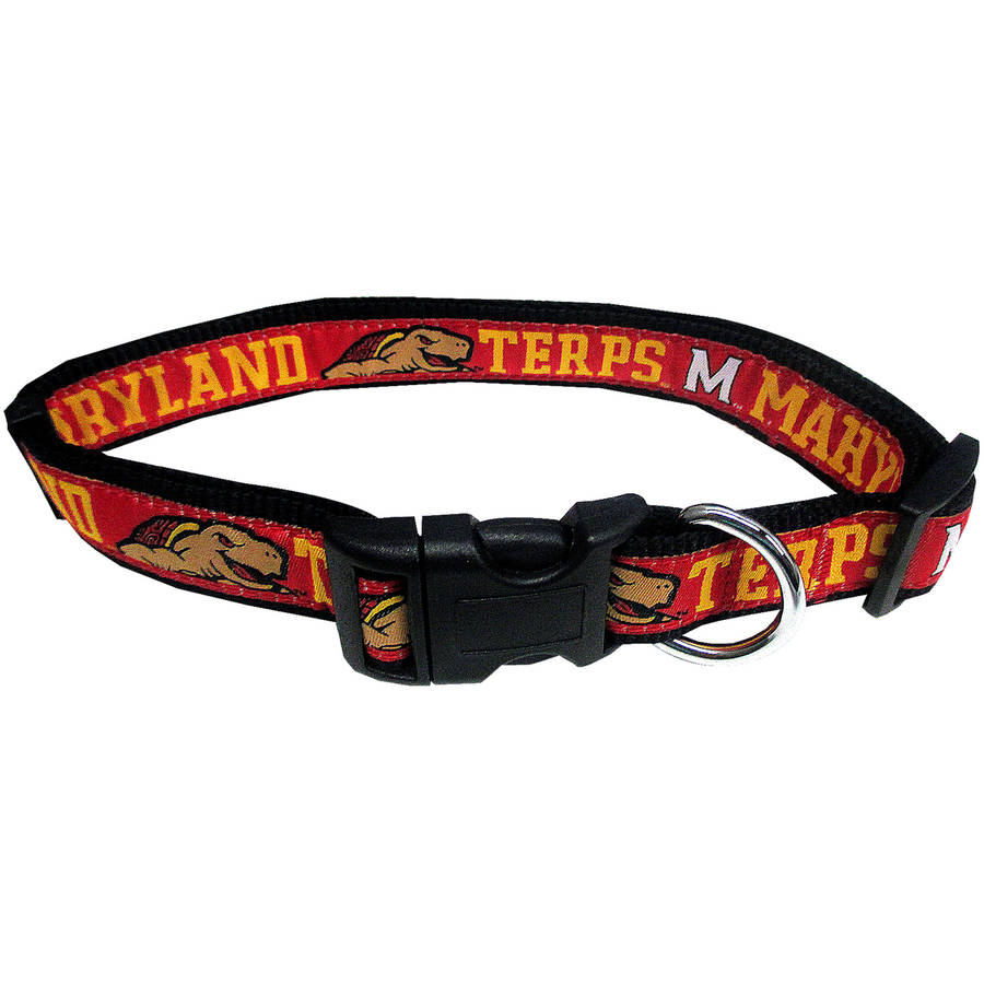 Pets First College Maryland Terrapins Pet Collar, 3 Sizes Available, Sports Fan Dog Collar