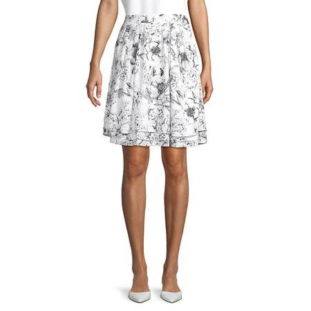 Pleated A-Line Skirt ()