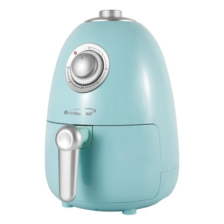 Btwd 2 Quart Small Electric Air Fryer in Blue with Timer and Temperature Control