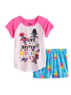 Trolls Girls 2-Piece Pajama Short Set Sizes 4-8