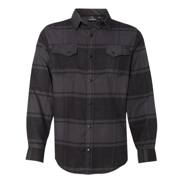 Burnside - Artix Men - Snap Front Long Sleeve Plaid Flannel Shirt