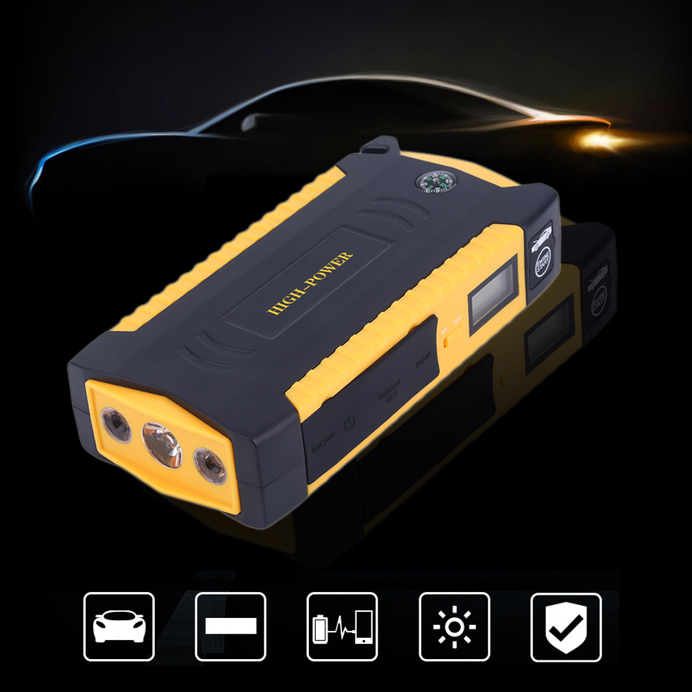 Professional Emergency Power Battery Jump Starter - 4 USB...