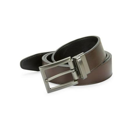 Leatherette Square Buckle Belt ()