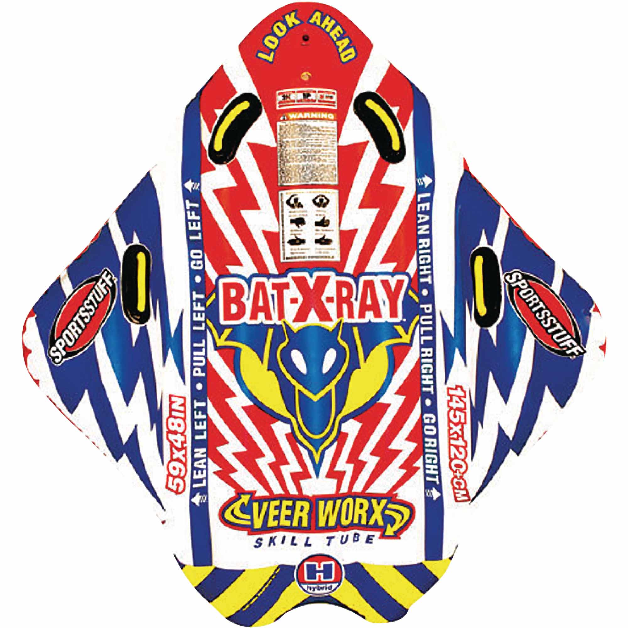 Sportsstuff Bat-X-Ray Towable Single Rider Tube by Kwik Tek