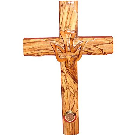 Zuluf Wall Hanging Wood Cross Olivewood Dove Cross Christian Gift Israel - CRS022 for $<!---->