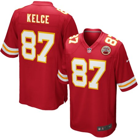 sports shoes 059e7 fc7cc Travis Kelce Kansas City Chiefs Youth Nike Team Color Game Jersey - Red