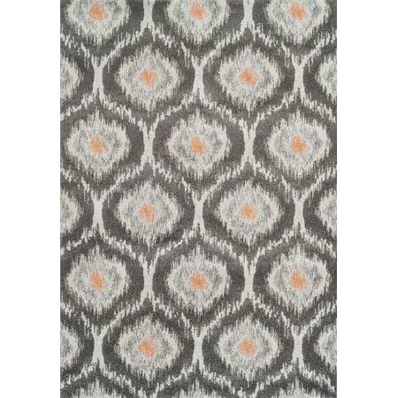 Addison Platinum Moroccan Trellis Orange Area Rug
