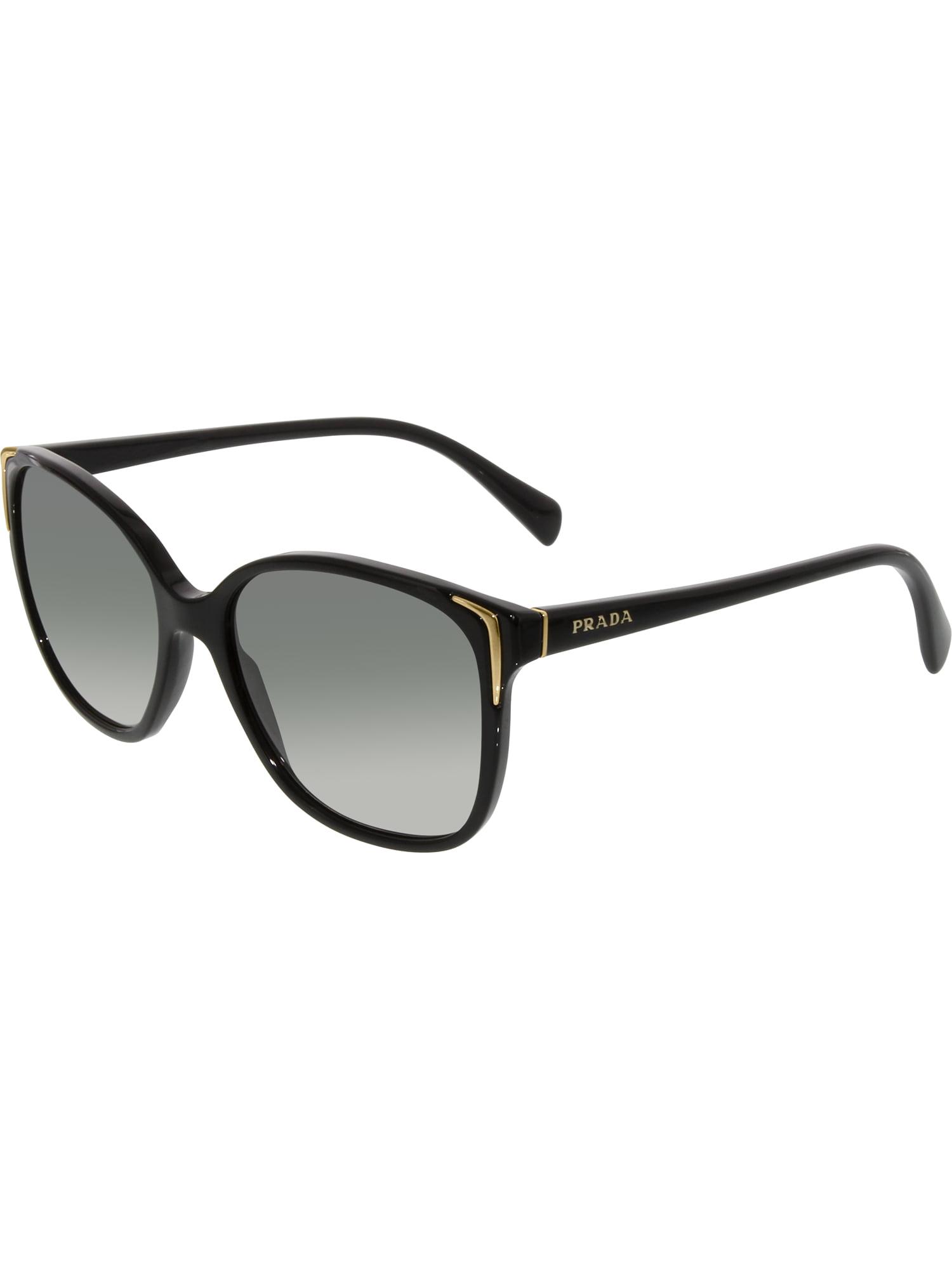 76994349cf41 Prada - Prada Women s Gradient PR01OS-1AB3M1-55 Black Cat Eye Sunglasses -  Walmart.com