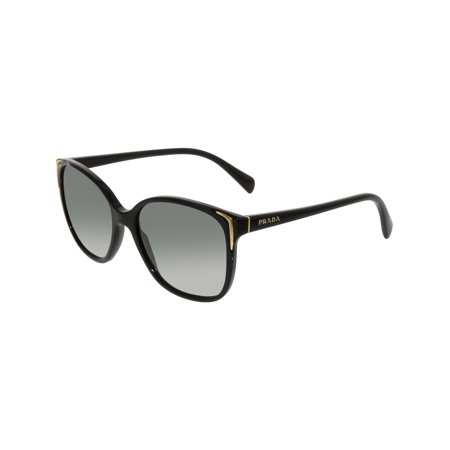Prada Women's Gradient PR01OS-1AB3M1-55 Black Cat Eye (Women's Black Cat Eye Sunglasses)