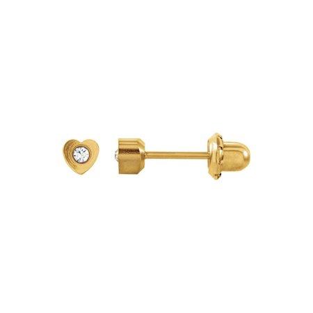 24K Gold-Washed Stainless Steel Imitation Crystal Piercing Earrings (24k Clip Earrings)