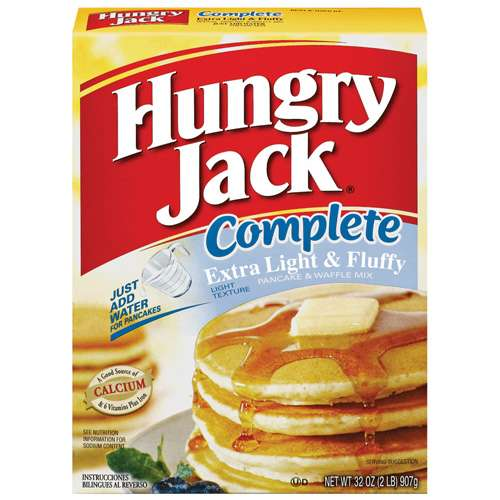 Hungry Jack Extra Light & Fluffy Pancake & Waffle Mix, 32 oz
