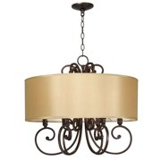 World Imports Rue Maison 6-Lights Iron and Euro Bronze Chandelier WI352629 New