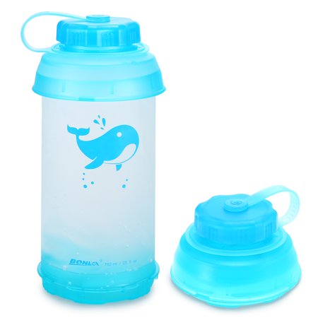 750ml Collapsible Water Bottle Lightweight Outdoor Sports Travel Bottle for Camping Cycling Hiking Gym](Collapsible Water Bottles)