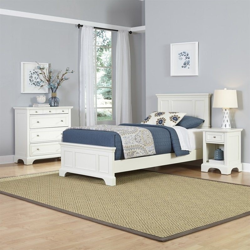 Home Styles Naples Twin Bed, Night Stand and Chest