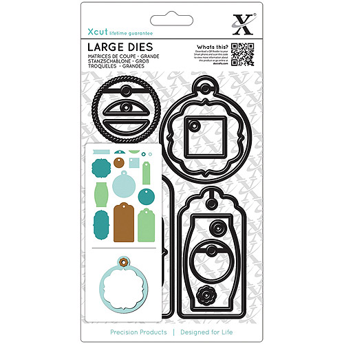 Xcut Decorative Dies, Large, Everyday Gift Tags