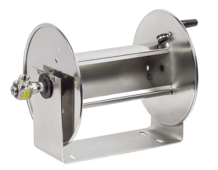 "COXREELS 117-5-100-SS Stainless Steel Hand Crank Hose Reel 3 4"" x 100ft no hose by Coxreels"