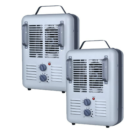 Utility Milkhouse Style Electric Space Heater #DQ1702, 2 pack Value Bundle