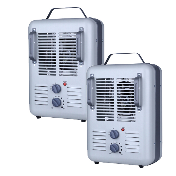 Utility 'Milkhouse' Style Electric Space Heater #DQ1702, 2 pack Value Bundle